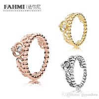 tiara china großhandel-FAHMI 100% 925 Sterling Silber SHINE MY PRINCESS TIARA RING Roségold Exquisite Lucky Charming Charm