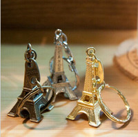 Wholesale paris keychain souvenir resale online - Vintage D Paris Eiffel Tower keychain French souvenir paris Keychain Keyring Key Chain Ring