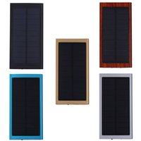 Wholesale super solar charger for sale - Group buy Ultra Thin solar power bank Real mah Matte Polymer Super Slim Portable solar Charger External Battery For Mobile Phone