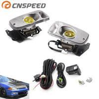 sivil d16 toptan satış-CNSPEED Sis Işık Tampon Lambası 2 / 3D EG D15 D16 1.5 / 1.6 Civic Için 92-95 Sol Sağ Sis farları lamba Sürüş YC100478