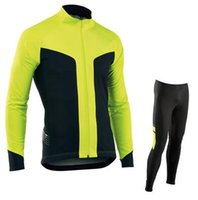 Wholesale Cycling Jersey Sets Winter Thermal Fleece Cycling Clothing Windproof Bicycle Reflective Cycling Jacket Sportswear Cycle Kits Drop Ship