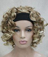 ingrosso nuove parrucche bionde-WIG New Fashion Strawberry Blonde / Pale curly Blond short 3/4 wig