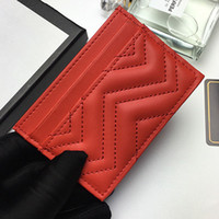 Wholesale vintage pink clutch resale online - 2020 designer new fashion Card Holders woman wallet pure color genuine leather classic mini wallet free ship