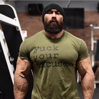 camisas de nylon dos homens t venda por atacado-2019 Novos Homens Verão Musculação de Algodão de Manga Curta T Shirt Gyms Camisas de Fitness Masculino Casual Treino Tee Tops Roupas Y19050701