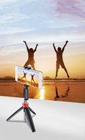 Wholesale New in Mini Selfie Tripod and Wireless Bluetooth Selfie Stick with Remote Control for iphone X samsung S10 Portable Bluetooth Monopod