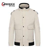 куртка с воротником оптовых-2019 spring and summer new men's straight stitching fashion high collar jacket jacket sports casual regular code M-3XL