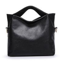 schwarze arbeitstasche frauen groihandel-Russland echtes Leder-Frauen Tote-Beutel-Qualität Weibliche Handtaschen-Dame Rot Blau Schwarz Beige Umhängetasche für Shopping Arbeit