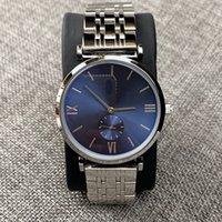 relógios de homem de negócios venda por atacado-2010 Moda de Nova Design Os homens / mulheres amantes da qualidade superior de aço relógio de prata inoxidável relógios Man Quartz relógios de luxo clock clássico