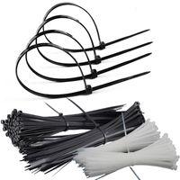ingrosso cravatta in nylon di plastica-cavo di nylon nero diretto fabbrica legare 4 * 200 plastica protezione ambientale pacchi nylon autobloccante serracavi all'ingrosso