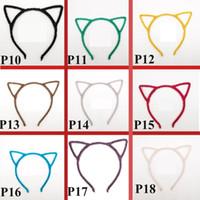 Wholesale stylish headband hair online - Stylish Women Girls Cat Ears Headband Accessories Sexy Head Band Multicolor Styling Tools Headwear Children Hair Sticks B11