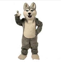 venta de disfraces de mascota al por mayor-2019 venta de fábrica disfraces de mascota de lobo caliente personaje de mascota de perro de halloween cabeza de fiesta disfraz de fiesta de lujo tamaño adulto cumpleaños