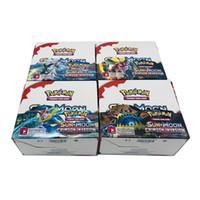 série de jogos de cartão venda por atacado-324 pçs / caixa Anime Coleção Cartão de Negociação jogo da série do cartão Preto Branco Ultra SunMoon Monstros de Impressão a Cores para Crianças novidade Presente brinquedo