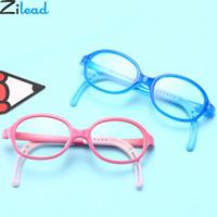 gafas de niños azules al por mayor-Zilead Kids Anti Blue Light Glasses Frame BoysGirls Descompresión Antideslizante Juegos de computadora Gafas ópticas Niños Eyewear