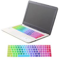 lenovo ideapad clavier achat en gros de-3 Garde Lenovo Cover Keyboard Colorful Protector 0 Peau Arabe Z560 pour Silicone IdeaPad 1mm Anglais