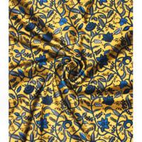 ingrosso cortile in chiffon di seta-2019 imitato tessuto di seta stampato digitale tessuto ankara Africano modello di cera 4 yards tessuto audel + 2 yards in chiffon per il vestito