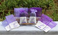 sacos de organza flores venda por atacado-8 Estilos de Algodão Roxo Organza Lavanda Sachet Bag DIY Secas Flor Ward Partido Decoração de Mesa Centrais de Enfeite de Natal dc120