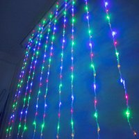Wholesale christmas waterproof led waterfall light resale online - 3m m Christmas Wedding Party Background Holiday Running Water Waterfall Water Flow Curtain LED Light String Bulbs waterproof