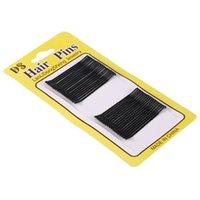 ingrosso barrettes invisibili-32 pezzi Fashion Black Pins Pins Invisible Wave Hair Grips Salon Barrette Hairpin Hair Clip Ladies 'Barrette Clip invisibili