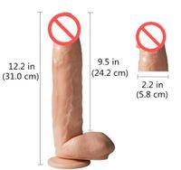 ingrosso i grossi cazzi giocano sesso-12.2 pollici enorme nero realistico silicone dildo ventosa big pene artificiale denso cazzo gigante dildo per donna giocattolo del sesso