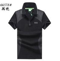 Wholesale boys polo long shirt resale online - 2019 Poloshirt Solid Shirt Men Luxury grid Polo Shirts short Sleeve Men s Top Cotton Polos For Boys Brand Designer