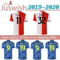 Wholesale 2020 Feyenoord Rotterdam Soccer Jerseys V PERSIE Home Red White JORGENSEN Away Blue Soccer Shirts Football Uniforms On Sale