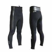 pantalones de buceo al por mayor-Traje de buceo SLINX pantalones de neopreno de 2 mm de largo pantalones unisex mantienen caliente para traje de buceo Windsurf Surf Snorkel Scuba Pesca