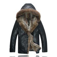черная куртка оптовых-Мужская черная куртка с меховым воротником. Зимние пальто из натурального меха. Кожаные куртки. Верхняя одежда из овечьей шерсти. Пальто Снежные топы Одежда больших размеров