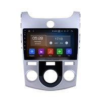 gps obd kia venda por atacado-9 Polegada Android 9.0 GPS Navi Car Stereo para 2008-2011 KIA Forte (MT) com Bluetooth Música WIFI apoio carro dvd Controle de volante DVR OBD