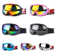 gafas de sol de esquí niebla al por mayor-2019 hombres mujeres marca gafas de esquí de doble capa antivaho gafas de esquí Snow Googles snowboard máscara de esquí gafas de sol gafas de invierno