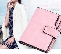 clip de carteira de doces venda por atacado-Ladies'Wallet Curto Doces Coloridos Botão Carteira Multi-clip Zipper Handbag