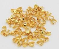 mücevherat yapımı toptan satış-100 adet altın kaplama Kefalet Balya Pinch Toka boncuk Kolye Için bulgular MÜCEVHER YAPMAK!