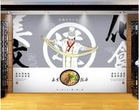 ingrosso sfondi di dogana 3d-3d carta da parati foto personalizzata murale su un muro Ramen dog noodle ristorante parete soggiorno home decor 3d murales carta da parati per pareti 3 d