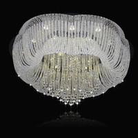 ingrosso lampadari a lampadario a fiori-Lampadario di cristallo moderno per il soffitto del fiore Design Soggiorno camera da letto LED lampada a sospensione Home Lighting Fixtures