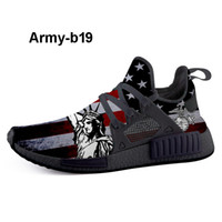 Wholesale led light resale online - Army b19 leading Custom Print Shoes Sneakers customisable direct to customer footwear brand allowing men to design fashion sneakers