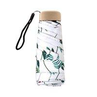 flache taschen großhandel-Ultraleichter Sonnenschirm Sonnenschirm, Mini Flat Five Fold Umbrella, Dual Usage Sonnenschutz Taschenschirm für Rucksack oder Geldbörse Fo