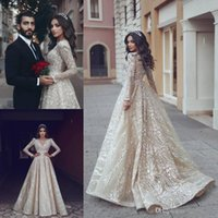 Wholesale nude art pictures for sale - Group buy 2019 Vintage Dubai Champagne Long Evening Dresses Lace Appliques V Neck Formal A Line Party Gowns Custom Made