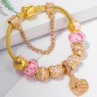 Wholesale unique beads for bracelets for sale - Group buy TOGORY Crystal Women Bracelet Unique Gold Color Chain Charm Bracelets For Women DIY Beads Bracelet Bangle Jewelry Gift