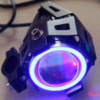 Wholesale angel eyes headlight motorcycle resale online - External Concentrating Electric Car LED Lights Motorcycle Light LED Headlights Angel Eyes U7 Laser Cannons Lights Super Bright