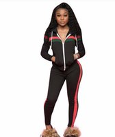 Wholesale women tights leggings tops for sale - Group buy 114 Brand Designer women jogging suit piece set tracksuit crop top leggings outfits sportswear shirt tights sweatsuit sexy clothes