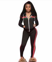 fato de desenhador venda por atacado-114 Marca Designer mulheres jogging terno 2 peça set treino top leggings roupas sportswear camisa calças justas treino sexy