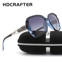 ingrosso occhiali coreani-HDCRAFTER Occhiali da sole coreani Chao Ren Nuovo tipo Occhiali da sole polarizzanti ultravioletti SC021 per occhiali da sole da donna con montatura grande