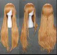 Wholesale cosplay yuuki resale online - WIG LL HOT gt gt gt gt Light Brown Sword Art Online Asuna Yuuki Anime Cosplay Wig