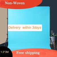 Wholesale painting equipment resale online - Factory Non woven Photography Background X3M x ft Black Green White studio Backdrop Screen for studio lighting Equipment
