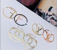 brinco miao hoop venda por atacado-Hot Sale 2020 luxo Design de Jóias brincos de presente de aniversário para mulheres meninas hipérbole grande 5 centímetros círculo carta Argola grande