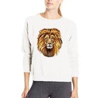 camisola dos hoodies do rei do leão venda por atacado-Super cool the king leão hoody novo estilo primavera casual camisola moda 3D camisola das mulheres hip hop hoodies 3D leão com capuz