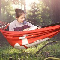 tiendas de mosquitos al aire libre al por mayor-Clon Engrosado Oxford tela hamaca rojo acampar al aire libre marcha anti mosquitos tienda de campaña aérea Hamaca para dormir