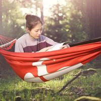 moskito-zelte im freien großhandel-Klon verdickte Oxford Tuch Hängematte rot Outdoor Camping März Anti-Moskito-Schaukel Luftzelt Schlafen Hängematte zum Wandern