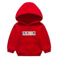 marca de suéter para niños al por mayor-Niños de manga larga de dibujos animados con capucha Orangemom marca ropa linda suéter versión coreana con capucha suéter niños niñas Outwear Tops