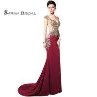 8273b118d99 Wholesale sex satin prom dress for sale - 2019 Luxury Sex Sweep Train  Mermaid Satin Full