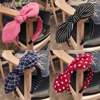 ingrosso archi del tessuto per i capelli-Fashion Lady Fabric Big Ribbon Hair Hoop Girls Bow Widened Ornamenti per capelli Hairbands per le donne Headwear Accessori per capelli